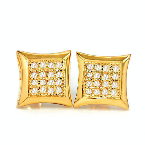 1.43 G. Natural Loose Diamond 10K Solid Gold Earring