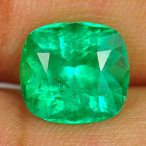 3.05 Ct. Cushion Shape Natural Green Emerald From Columbia