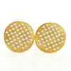 1.60 G. Natural Loose Diamond 10K Solid Gold Earring