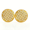 1.63 G. Natural Loose Diamond 10K Solid Gold Earring