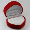 Jewelry Velvet Red Heart Ring or Earring Box