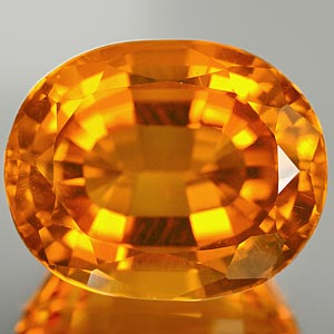 27.68 Ct. Blazing Clean Quartz Citrine Color Brazil