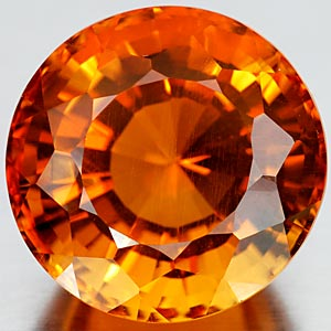 21.99 Ct. 17 Mm. Winsomely Clean Quartz Citrine Color