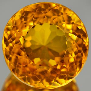19.70 Ct. Awesome Clean Quartz Citrine Color Brazil Gem