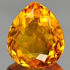 19.84 Ct. Blazing Clean Quartz Citrine Color Brazil Gem