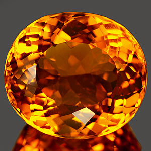 23.26 Ct. Glorious Clean Oval Quartz Citrine Color Gem