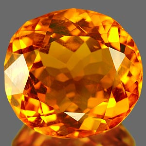 24.86 Ct. Beauteous Clean Orange Yellow Quartz Citrine