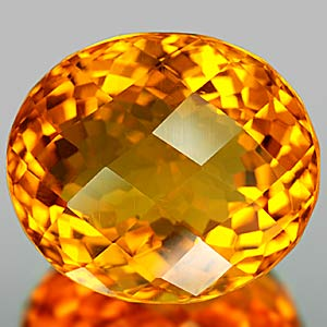 22.50 Ct. Brilliant Clean Quartz Citrine Color Brazil