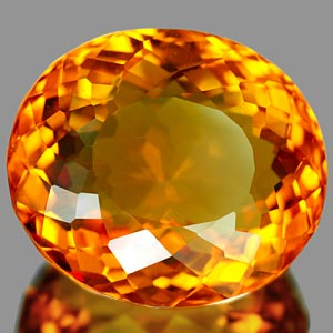 27.88 Ct. Awesome Clean Citrine Color Quartz Brazil Gem