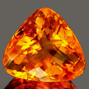 26.71 Ct. Charming Clean Trilliant Quartz Citrine Color
