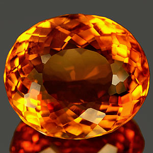 22.62 Ct. Impressive Clean Quartz Citrine Color Brazil