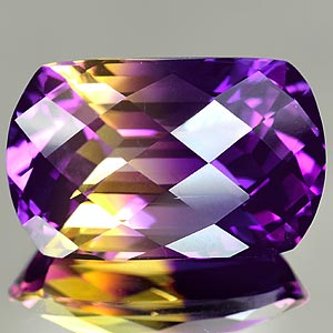 24.55 Ct. Beautiful Cut Hydrothermal Bi Color Ametrine