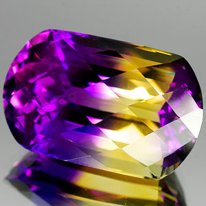 24.26 Ct. Glowing Clean Hydrothermal Bi Color Ametrine