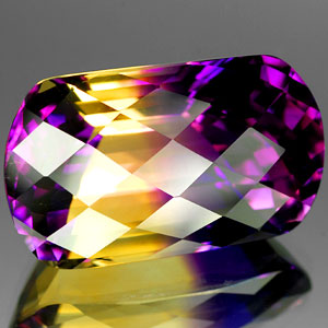 29.41 Ct. Striking Clean Hydrothermal Bi Color Ametrine