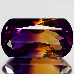 31.74 Ct. Lively Clean Hydrothermal Bi Color Ametrine