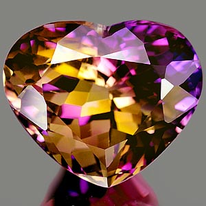 23.94 Ct. Charming Clean Hydrothermal Bi Color Ametrine Heart Shape Unheated