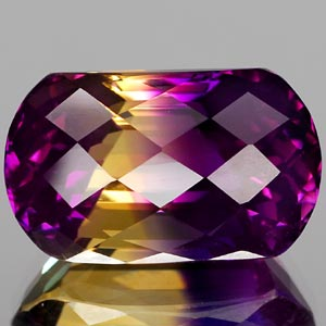 24.98 Ct. Bright Clean Hydrothermal Bi Color Ametrine