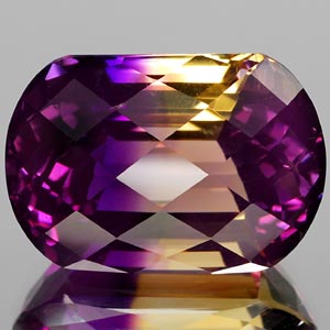 32.28 Ct. Shinning Clean Hydrothermal Bi Color Ametrine Cushion Checkerboard