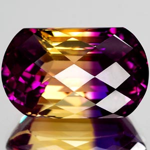 31.70 Ct. Intense Clean Hydrothermal Bi Color Ametrine