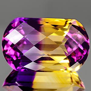 27.44 Ct. Amazing Clean Hydrothermal Bi Color Ametrine