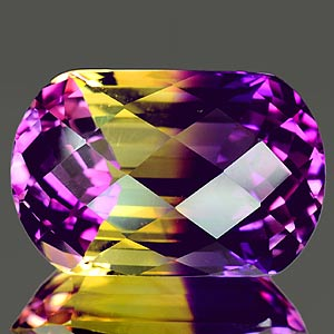 21.07 Ct. Luminous Clean Hydrothermal Bi Color Ametrine