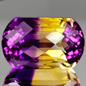 30.35 Ct. Amazing Clean Hydrothermal Bi Color Ametrine