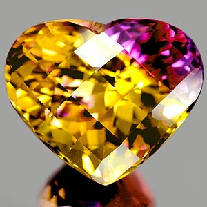 19.99 Ct. Clean Checkerboard Bi Color Ametrine Unheated