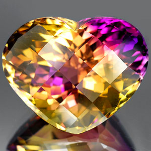 30.60 Ct. Clean Heart Checkerboard Bi Color Ametrine