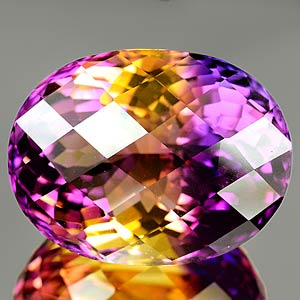 38.34 Ct. Charming Clean Hydrothermal Bi Color Ametrine