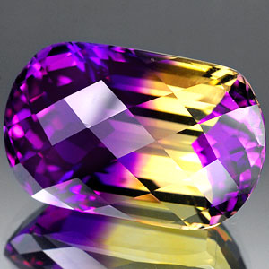 29.12 Ct. Sensational Hydrothermal Bi Color Ametrine
