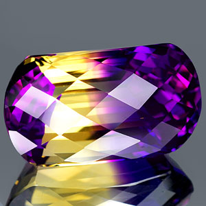 28.67 Ct. Sensational Hydrothermal Bi Color Ametrine