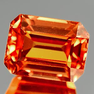 1.25 Ct. Clean Lab Created Padparadscha Sapphire Gem