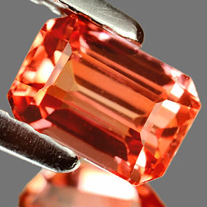 0.99 Ct. Clean Lab Created Padparadscha Sapphire Gem