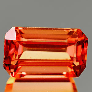 1.27 Ct. Clean Lab Created Padparadscha Sapphire Gem