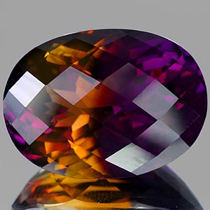 43.00 Ct. Attractive Hydrothermal Bi Color Ametrine IF