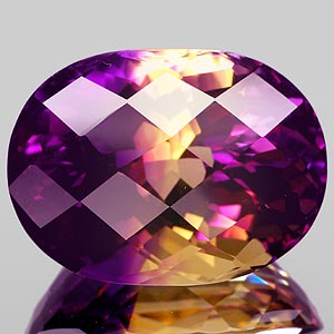 31.07 Ct. Clean Hydrothermal Bi Color Ametrine Brazil