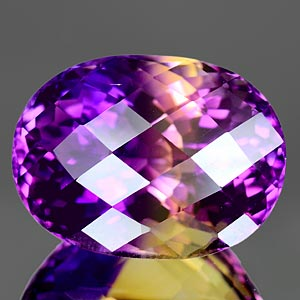 24.18 Ct. Clean Hydrothermal Bi Color Ametrine Unheated