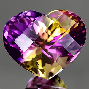 22.90 Ct. Clean Hydrothermal Bi Color Ametrine Unheated