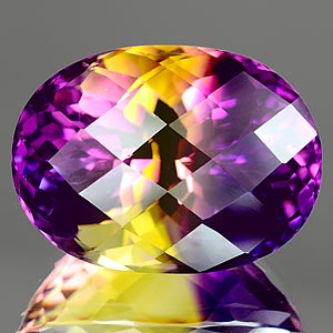 35.27 Ct. Clean Hydrothermal Bi Color Ametrine Unheated