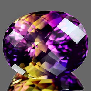 27.81 Ct. Clean Oval Checkerboard Bi Color Ametrine