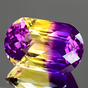 30.06 Ct. Clean Hydrothermal Bi Color Ametrine Fancy Checkerboard Unheated