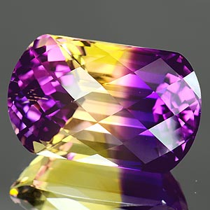 30.69 Ct. Scrumptious Hydrothermal Bi Color Ametrine