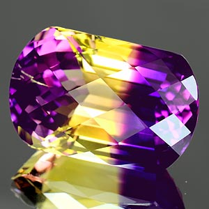 30.28 Ct. Phenomenal Hydrothermal Bi Color Ametrine Fancy Checkerboard