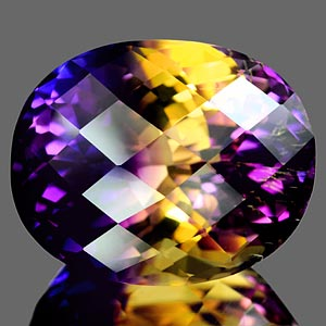 36.88 Ct. Clean Hydrothermal Bi Color Ametrine Brazil