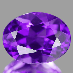 1.22 Ct. Oval Natural Violet Amethyst Unheated Brazil