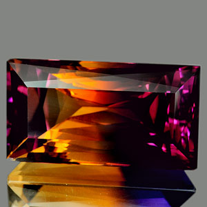 30.02 Ct. Clean Hydrothermal Bi Color Ametrine Unheated