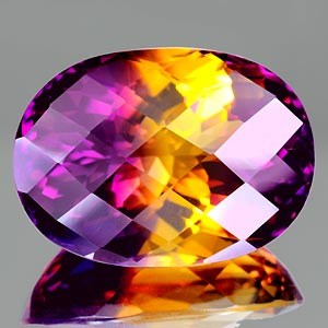 37.98 Ct. Clean Oval Checkerboard Bi Color Ametrine