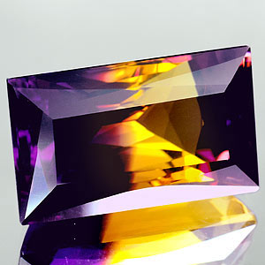 32.08 Ct. Clean Hydrothermal Bi Color Ametrine Unheated