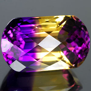 26.49 Ct. Clean Hydrothermal Bi Color Ametrine Unheated