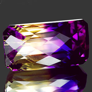 26.70 Ct. Octagon Checkerboard Hydrothermal Bi Color Ametrine IF